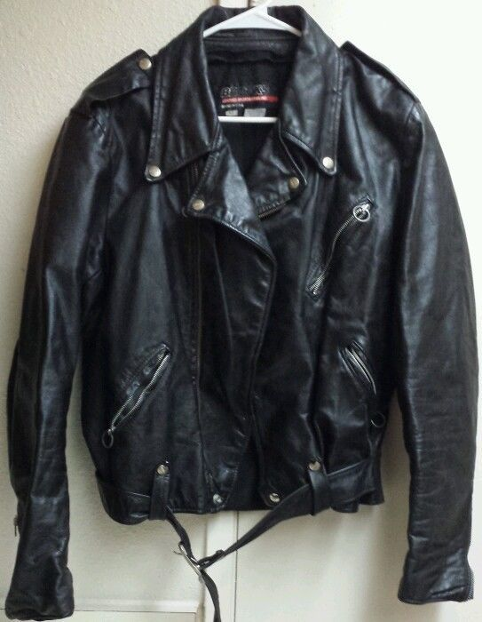 b0013b25de27 EUC Vintage Motorcycle Jacket Heavy Brooks Leather Sportswear Mens L 42 USA  Made #Brooks #Motorcycle