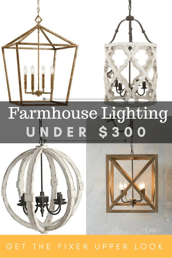 affordable farmhouse lighting