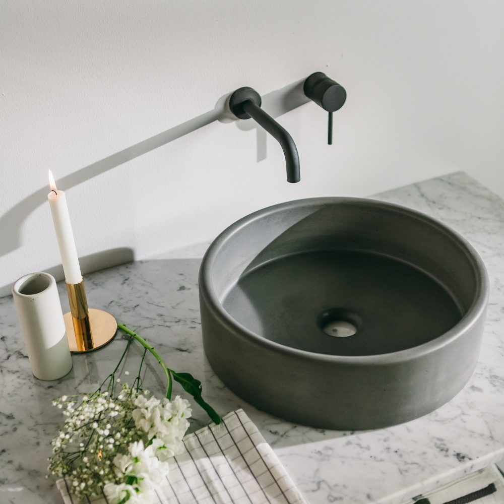 Round Concrete Vessel Sink Perfect For The Modern Bathroom Roundvesselbathroomsinks Fancy Sink Concrete Bathroom Sink