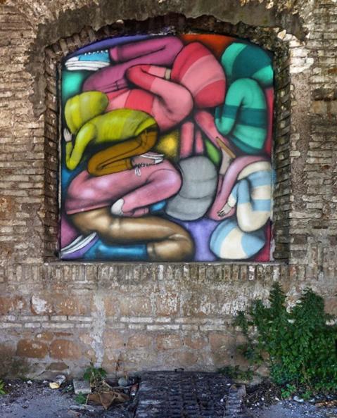 "SETH GlobePainter, ""Lampedusa,"" for ""Range ta chambre"" in Rome, 2016"