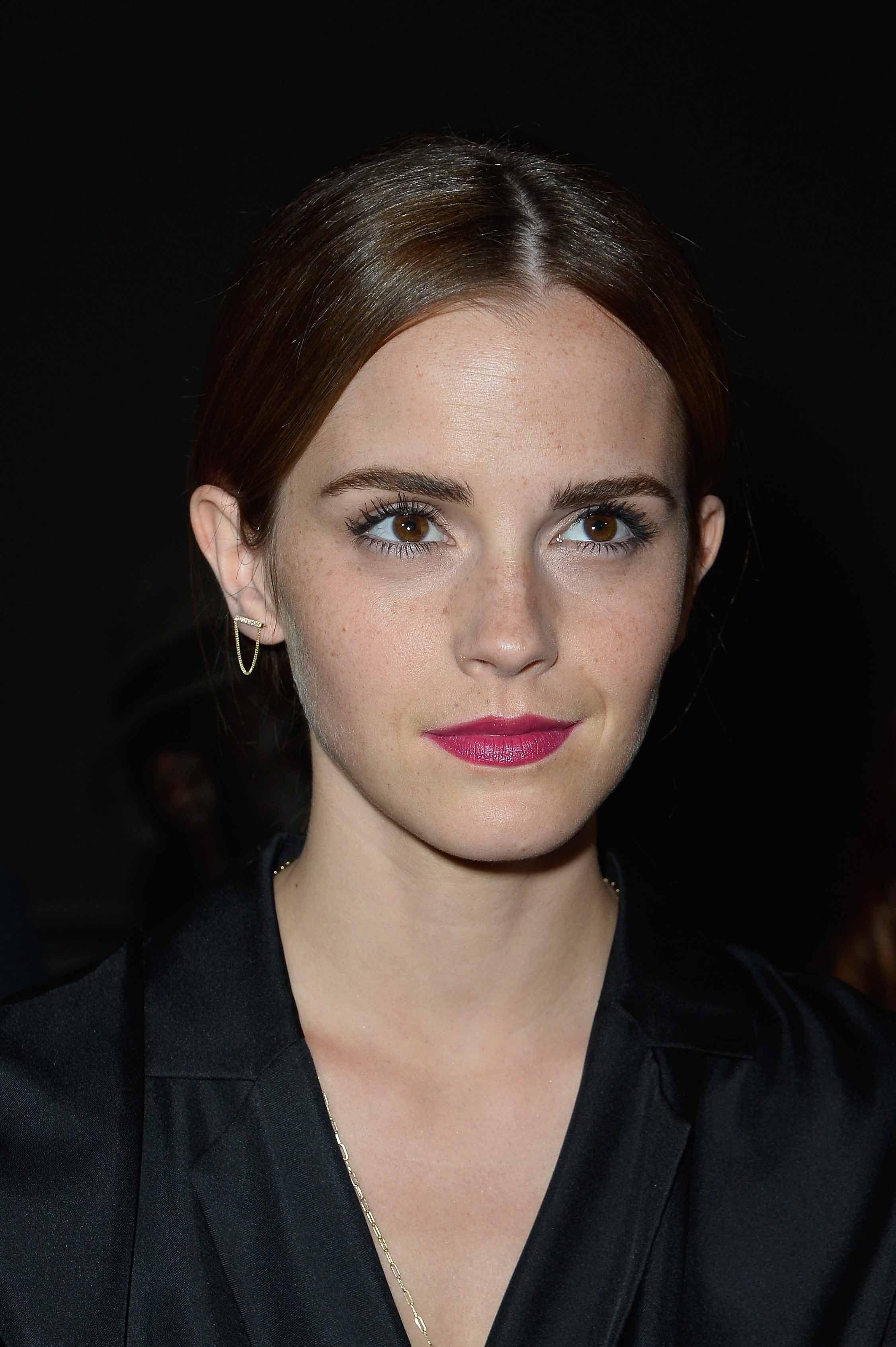 Emma Watson at Giambattista Valli Fashion Show Haute Couture Fall/Winter 2014/2015.