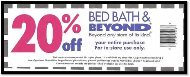 Download Bed Bath And Beyond Coupon 20 Off Printable Codes