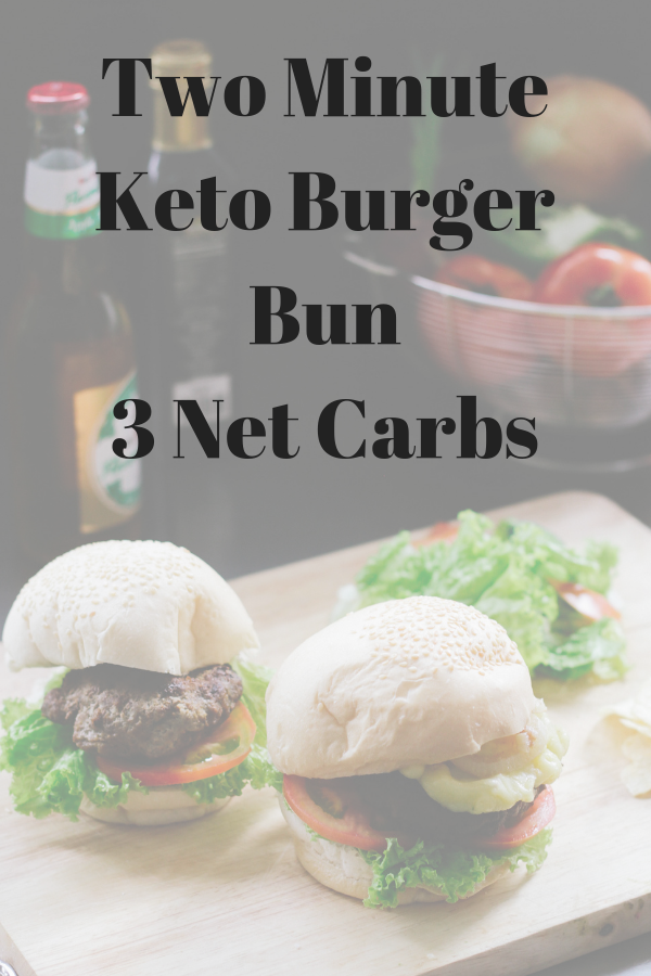 Famously Easy Keto Two Minute Burger Bun ~ 3 Net Carbs