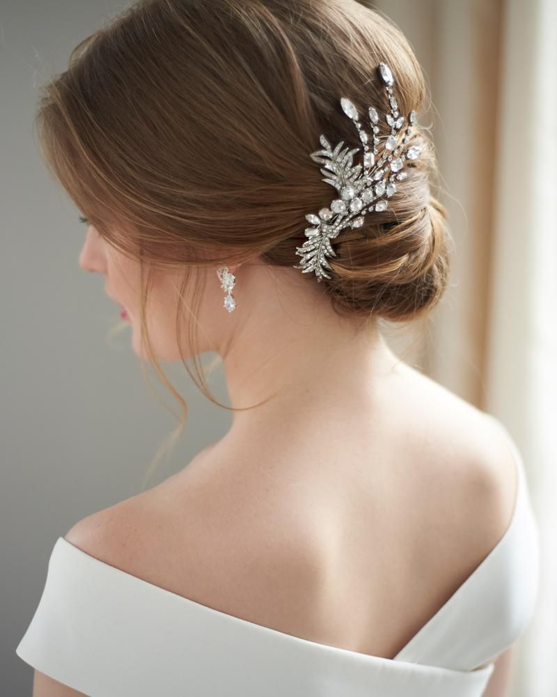 amelia antique hair clip in 2019 | bridal combs & clips
