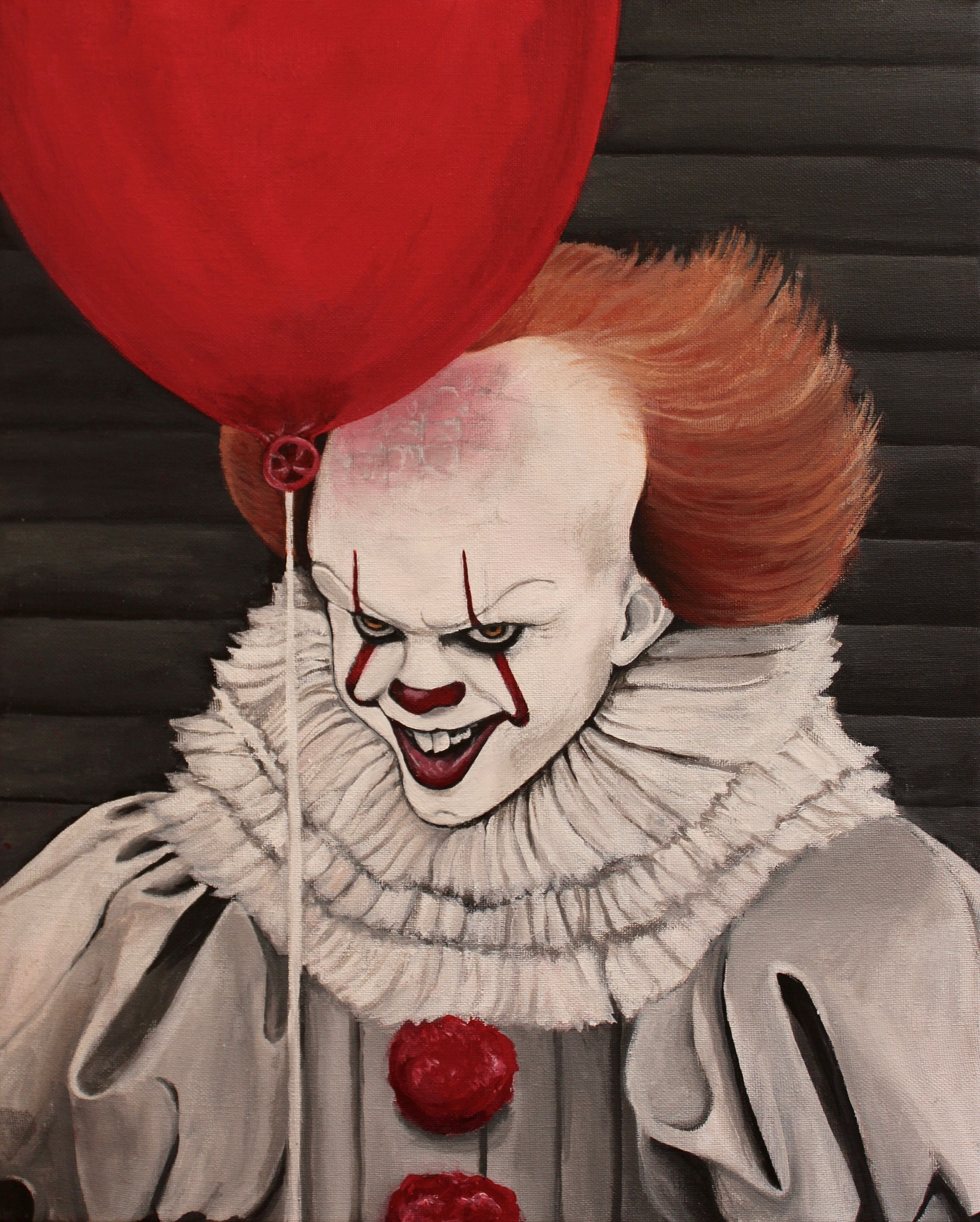 This Is My Painting Of Pennywise From Stephen King S It Pennywise Stephenking Clown Acrylicpainting Pennywise Painting Drawings
