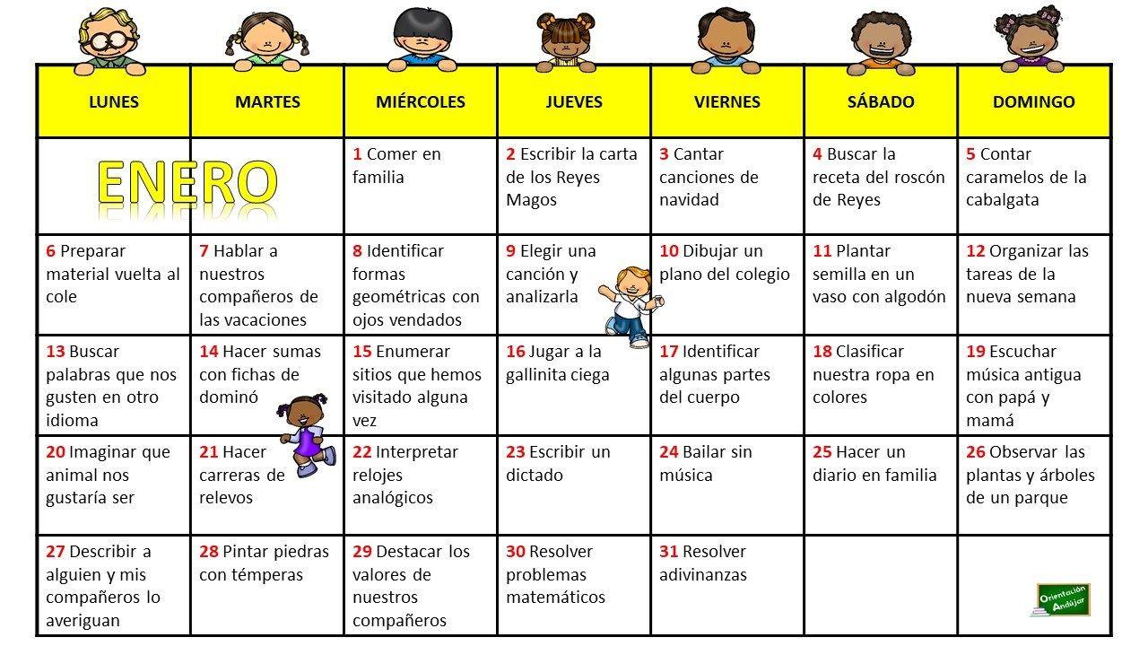 Nuevo Mes Nuevo Calendario Para Trabajar Las Diferentes Inteligencias Múltiples Tanto En El Aula C Inteligencias Multiples Orientacion Refuerzo Positivo Niños