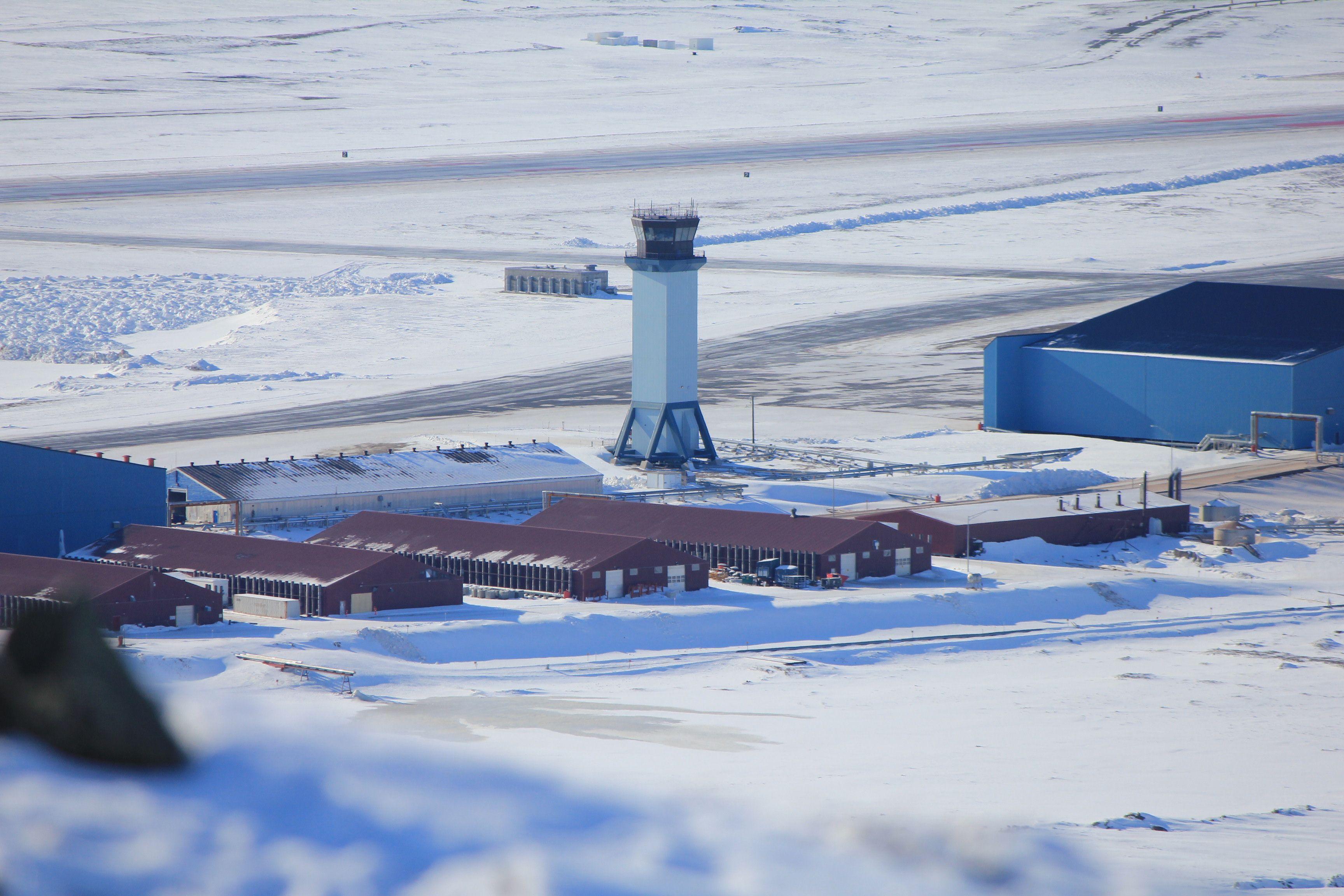 The Air Traffic Control Tower At Thule Air Base Greenland Air