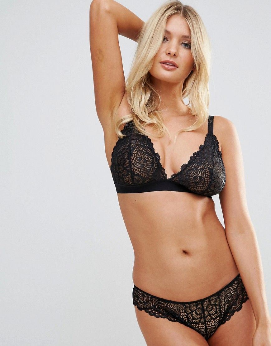631d96ae5a ASOS FULLER BUST Rita Lace Mix   Match Triangle Bra - Black ...