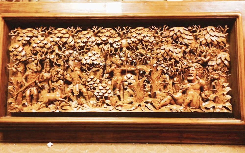 3D Large One Of A Kind Indonesian Wood Carving Wall Decor | Wood ...