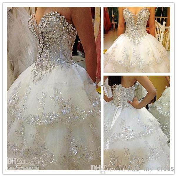 Finally Found It Ball Gown Wedding Dresses Buy 178 02 Dhgate Com Ball Gowns Wedding Wedding Dress Train Ivory Bridal Gown