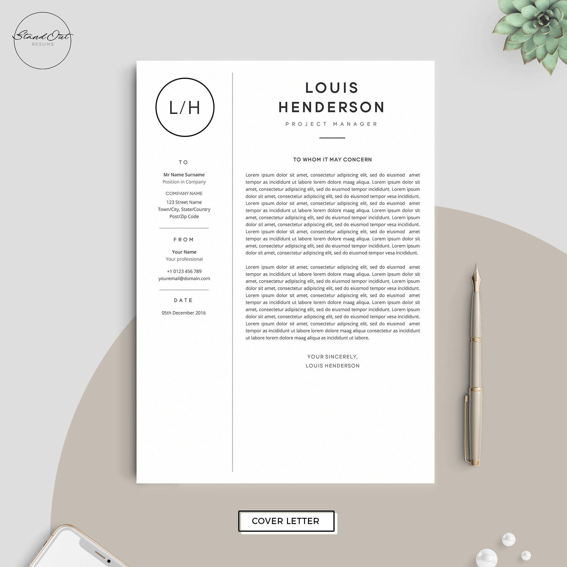 Resume/CV Template LOUIS(画像あり)