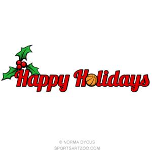 Basketball Happy Holidays Sportsartzoo Happy Holidays Softball Christmas Tennis Christmas