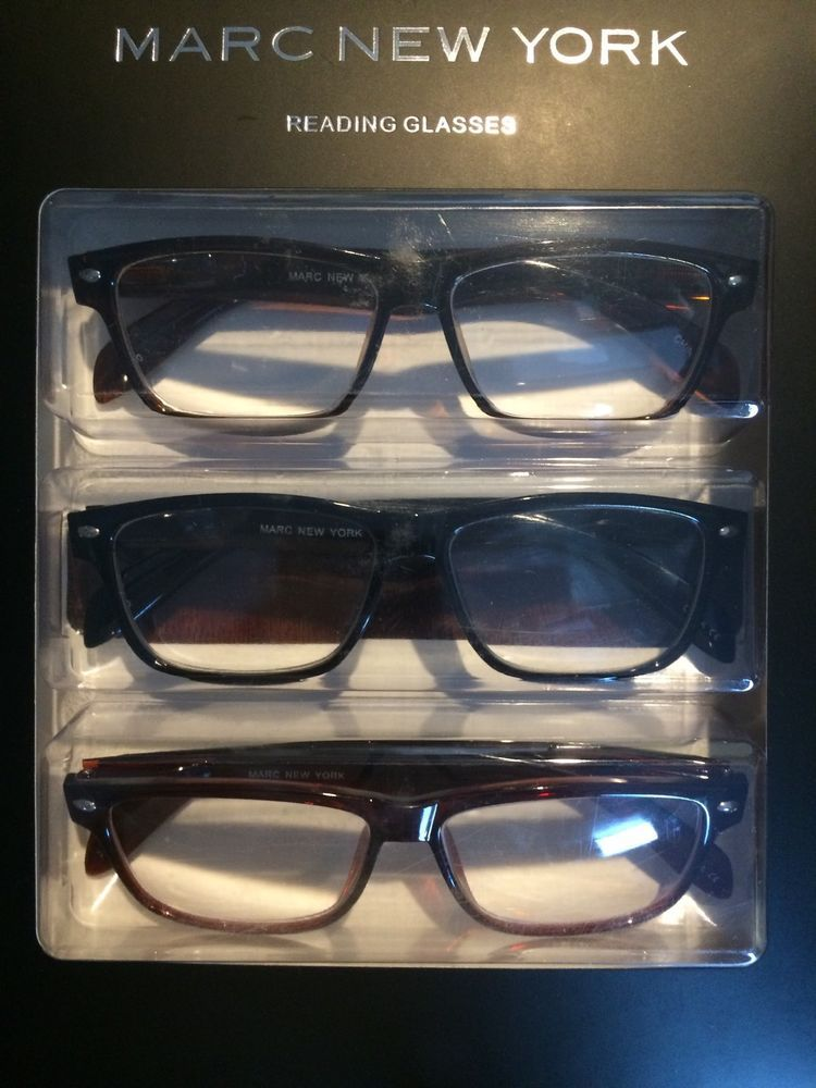 01491ee3d41e6 Stylish Marc New York 3 Pack +2.5 Reading Glasses Or Readers  marcnewyork