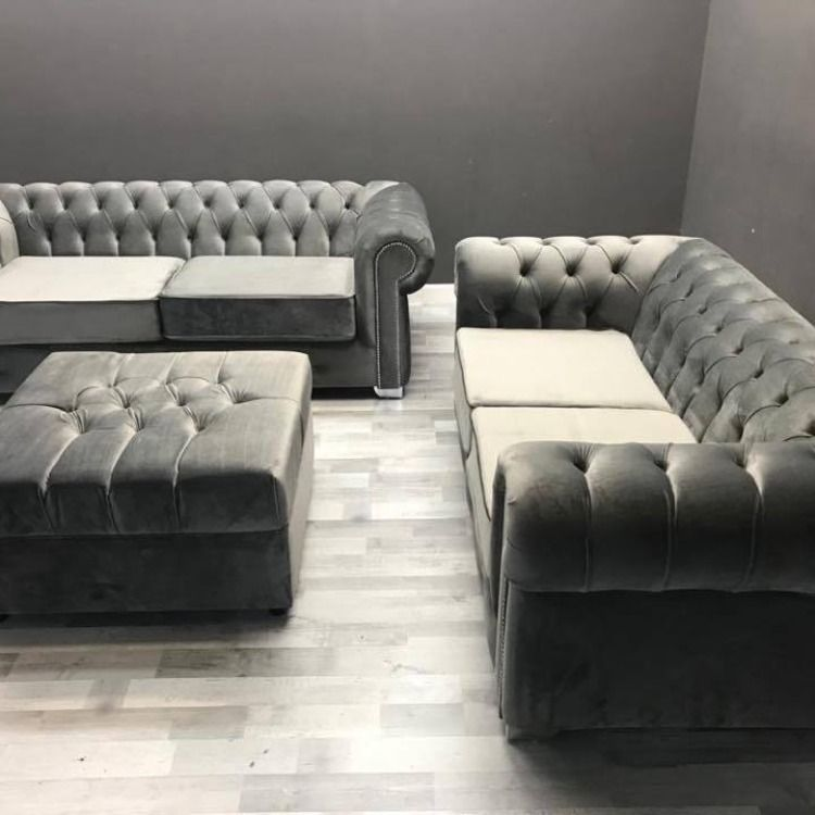 The Richmonds Chesterfield Range Is A Modern And Luxurious Sofa Set Suitable For All Homes Manufactured To The Highest S Luxury Sofa Sofa Set Velvet Sofa