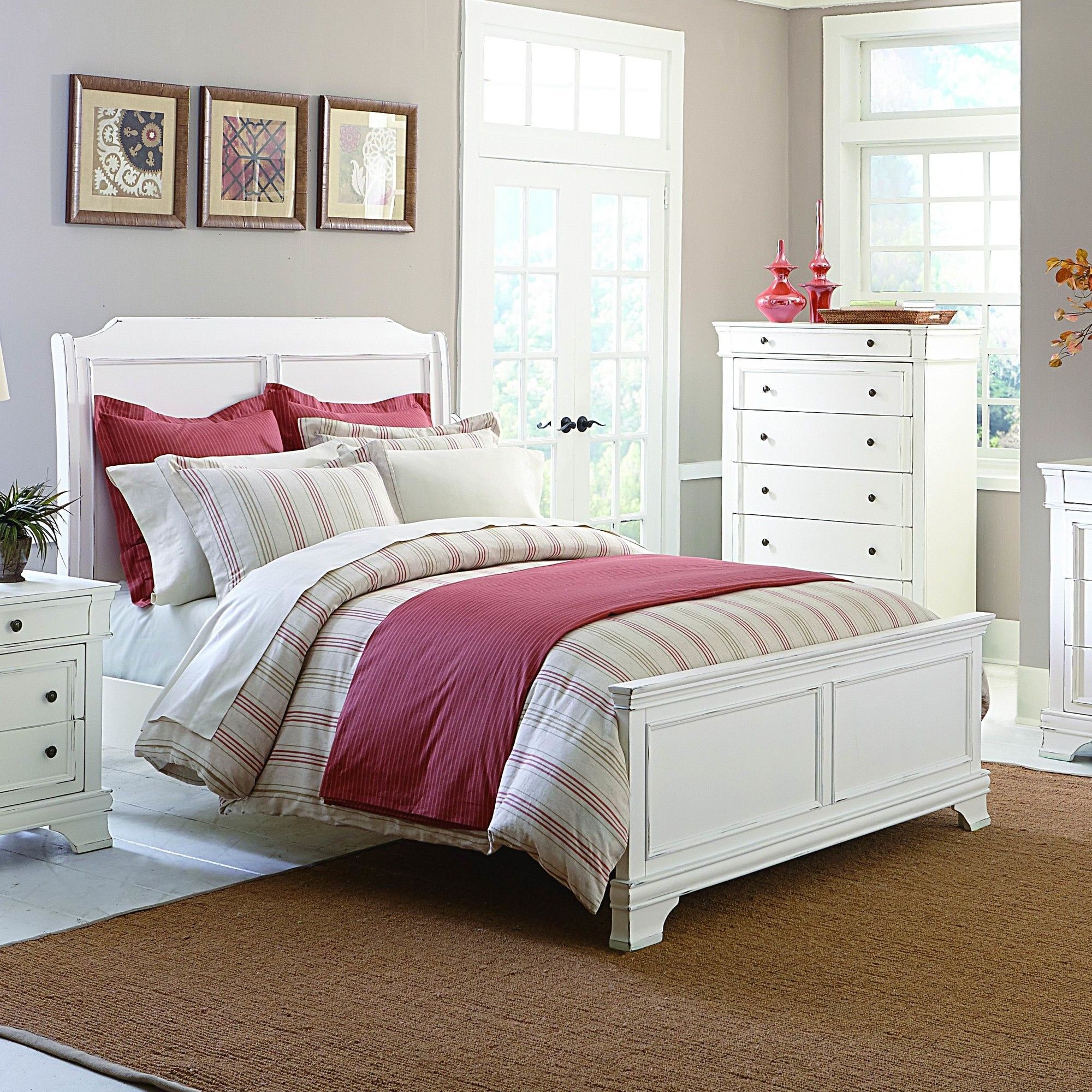 Mission Bay Panel Bed White Bedroom Set Bedroom Sets Bedroom