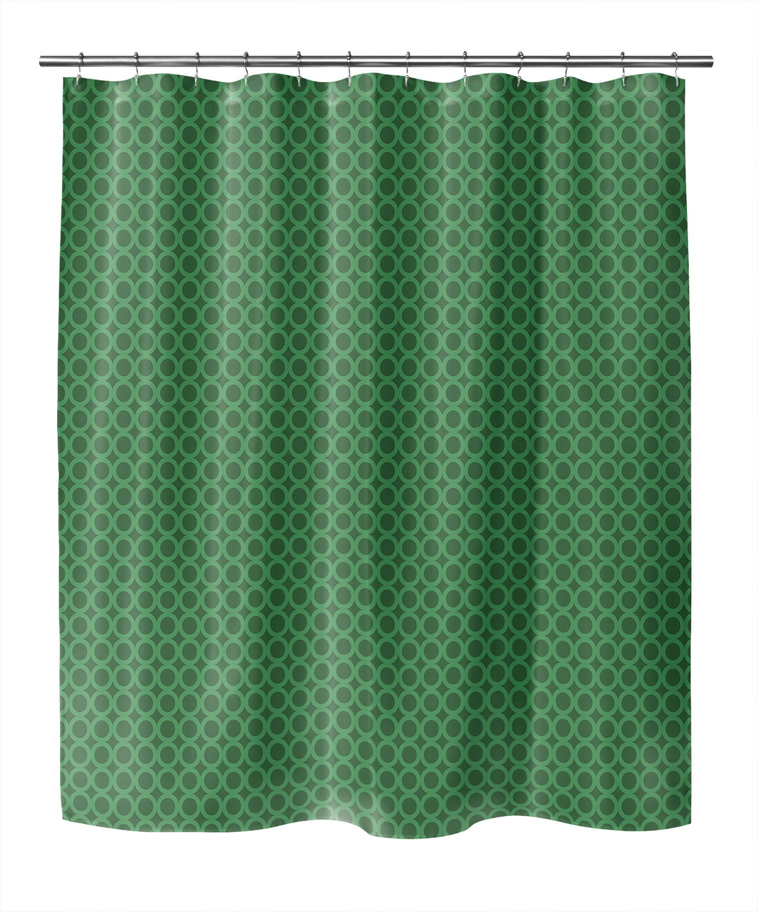 Photo of SIMPLE CIRCLES GREEN Shower Curtain By Becky Bailey – 70in x 72in