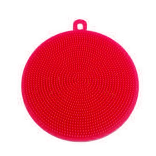 Photo of Kitchen Accessories Silicone Dish Washing Brush Bowl Pot Pan Wash Cleaning Brushes RED