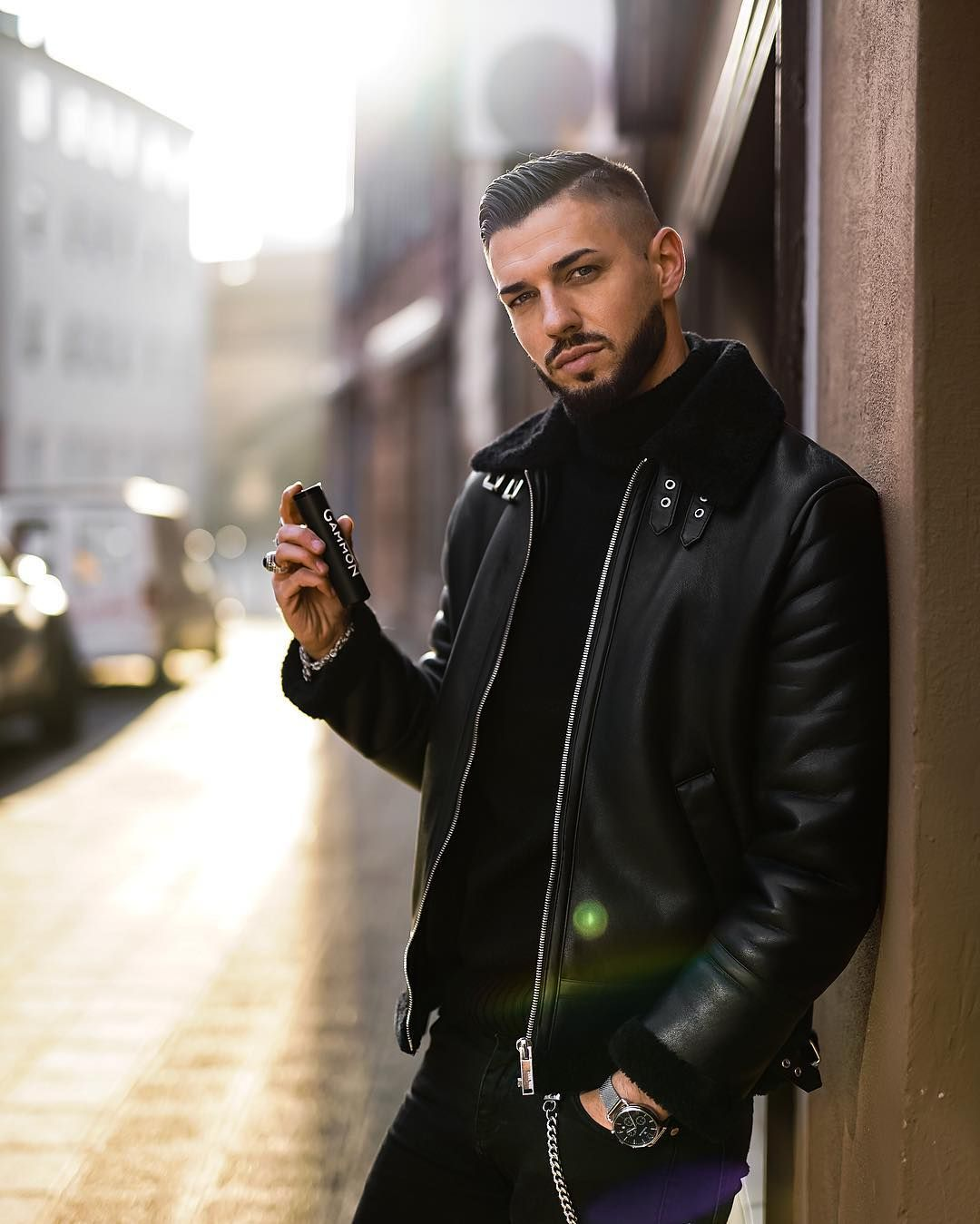 Fio On Instagram The Spring Can Come I Always Have My Fragrances From Gammon Official By Me There Are 4 Differe Casual Fashion Leather Jacket Mens Fashion [ 1349 x 1080 Pixel ]