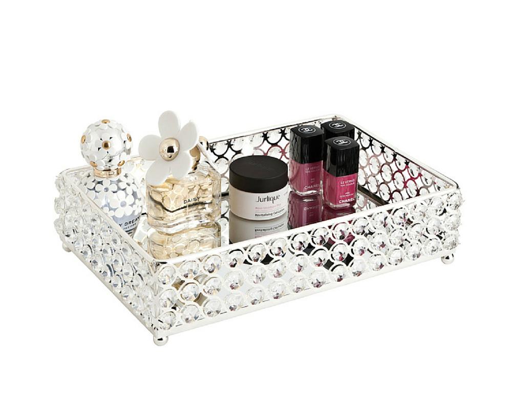 Glamour Mirror Tray Mirror tray, Makeup storage