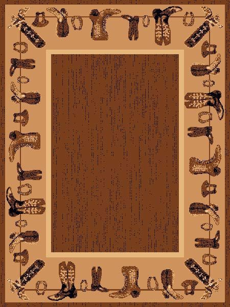 Cowboy Boots Western Area Rug 8 X 11 Area Rugs Western Theme Rugs
