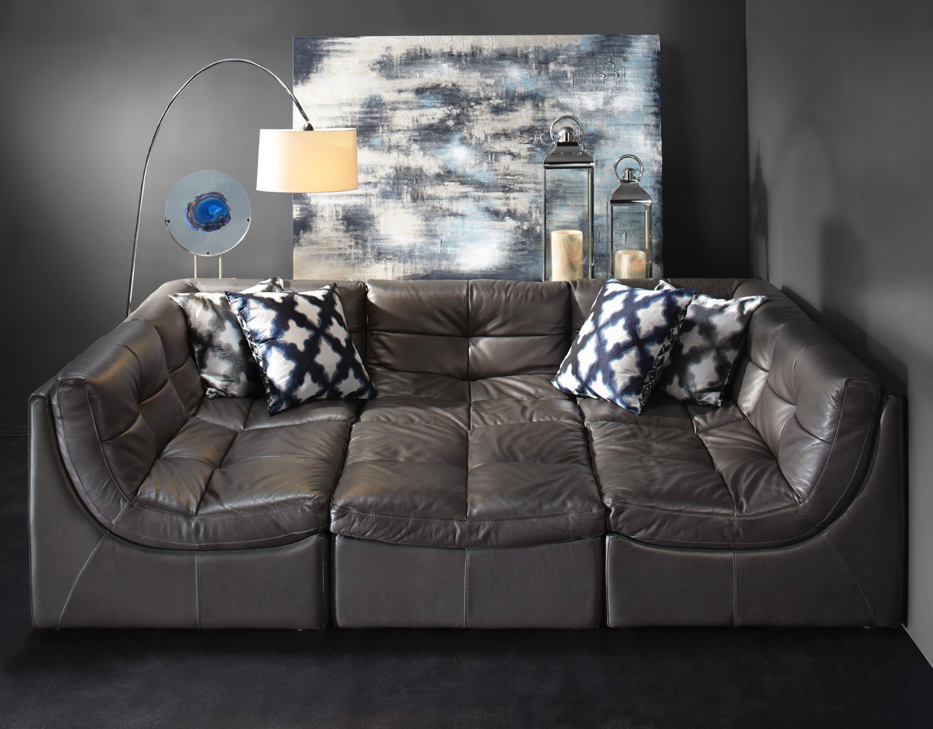 Sink Into The Cloud Modular Leather Sectional Modular
