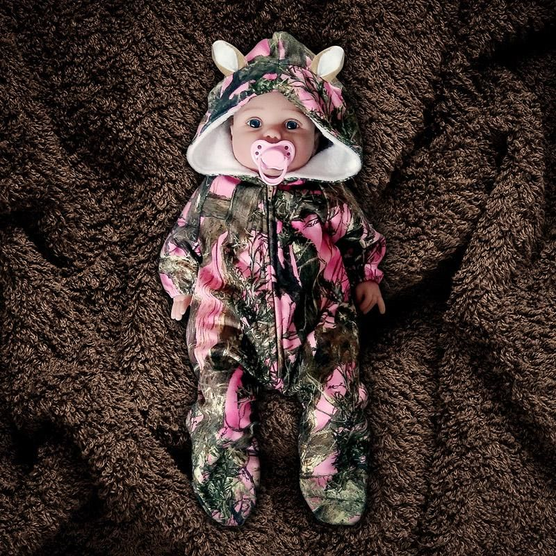 Personalized Camo Camouflage Gown Sack Type Sleeper Baby Infant Newborn Boy//Girl