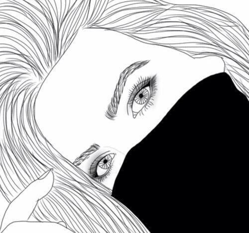 Girl Outline And Art Image Dessin De Fille Art Tumblr