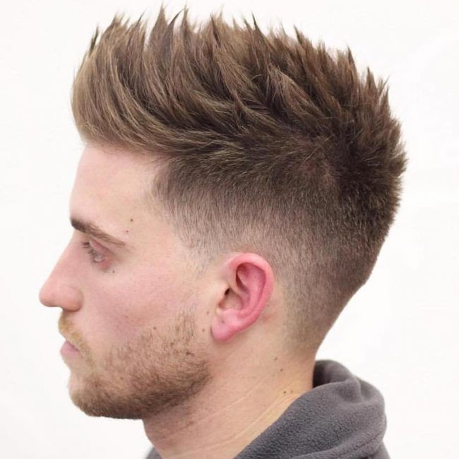 Faded Sides And Spiked Pompadour Mens Hairstyles Short Hairstyles For Thin Hair Mens Braids Hairstyles