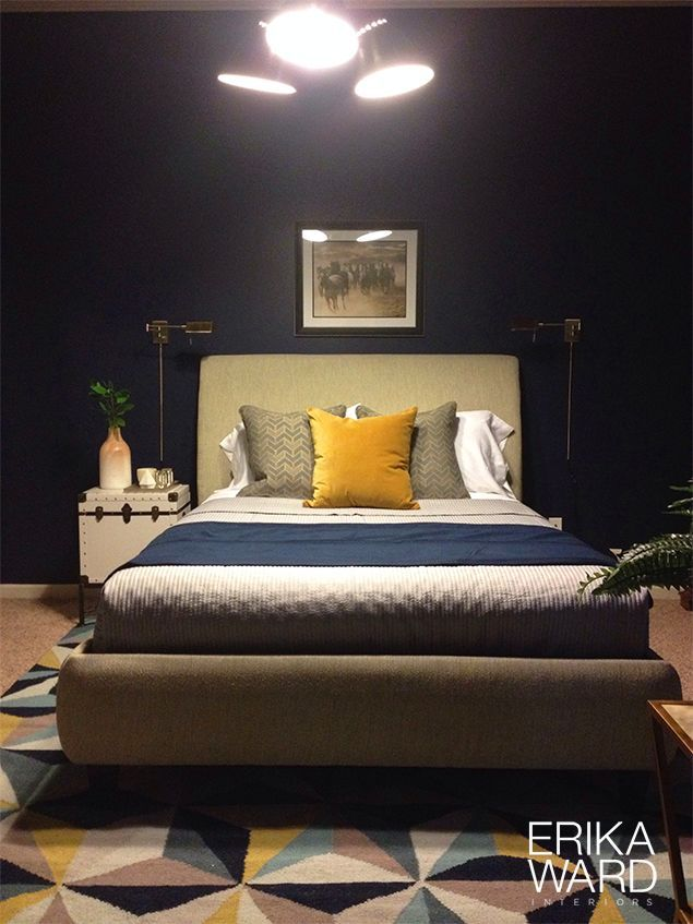 amisco bridge bed 12371 furniture bedroom urban. Designer Erika Ward - Masculine Bedroom Has A Collected Look With Brass Accents, Deep Navy Amisco Bridge Bed 12371 Furniture Urban R