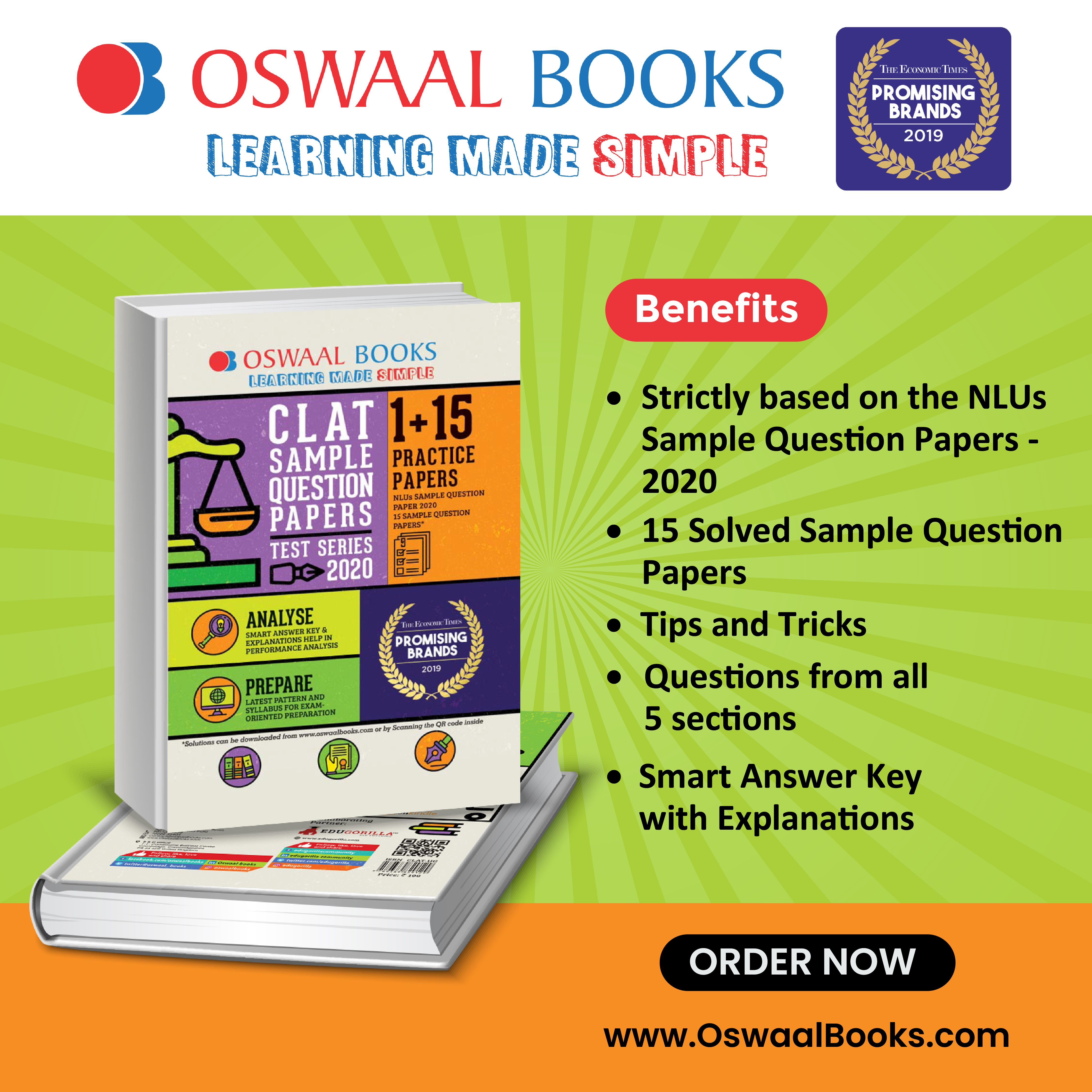 Are You Looking For Clat Sample Papers As Per The Latest Pattern And Syllabus Of The Nlus Oswaal Clat Samp In 2020 Sample Question Paper Question Paper Sample Paper