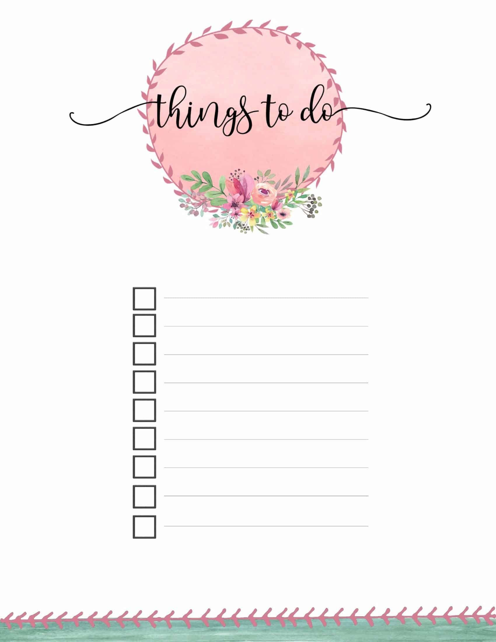 Free Printable To Do List Template Paper Trail Design To Do Lists Printable To Do Checklist Free To Do List