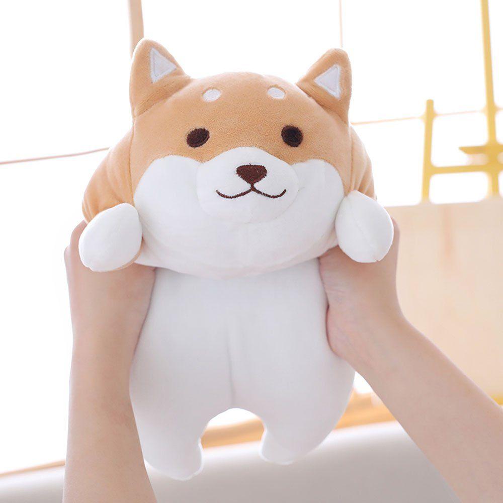 Shiba Inu Dog Soft Plush Throw Pillow Lifelike Animal Pillows Plush Toy For Valentines Gift Bedsofa Chair Peluche Mignon Stuffed Animals Poupees En Peluche
