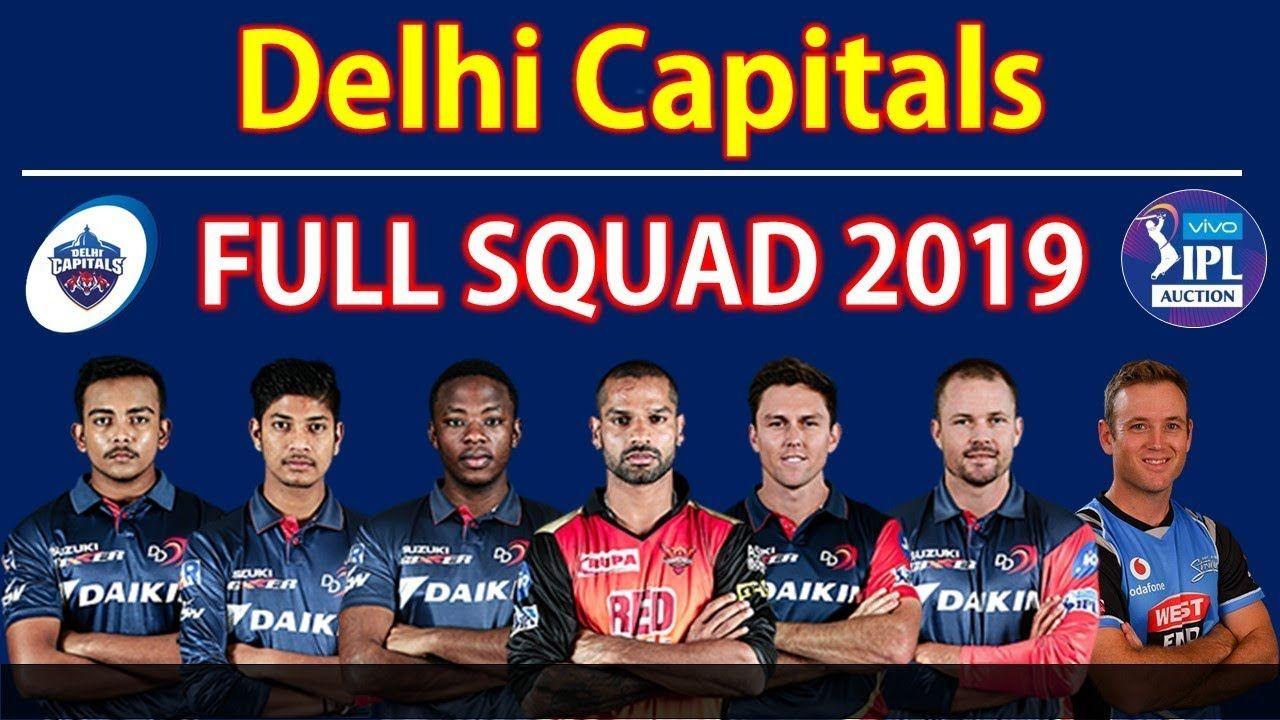 DC Team 2019 Players List IPL 2019 Delhi Capitals Players