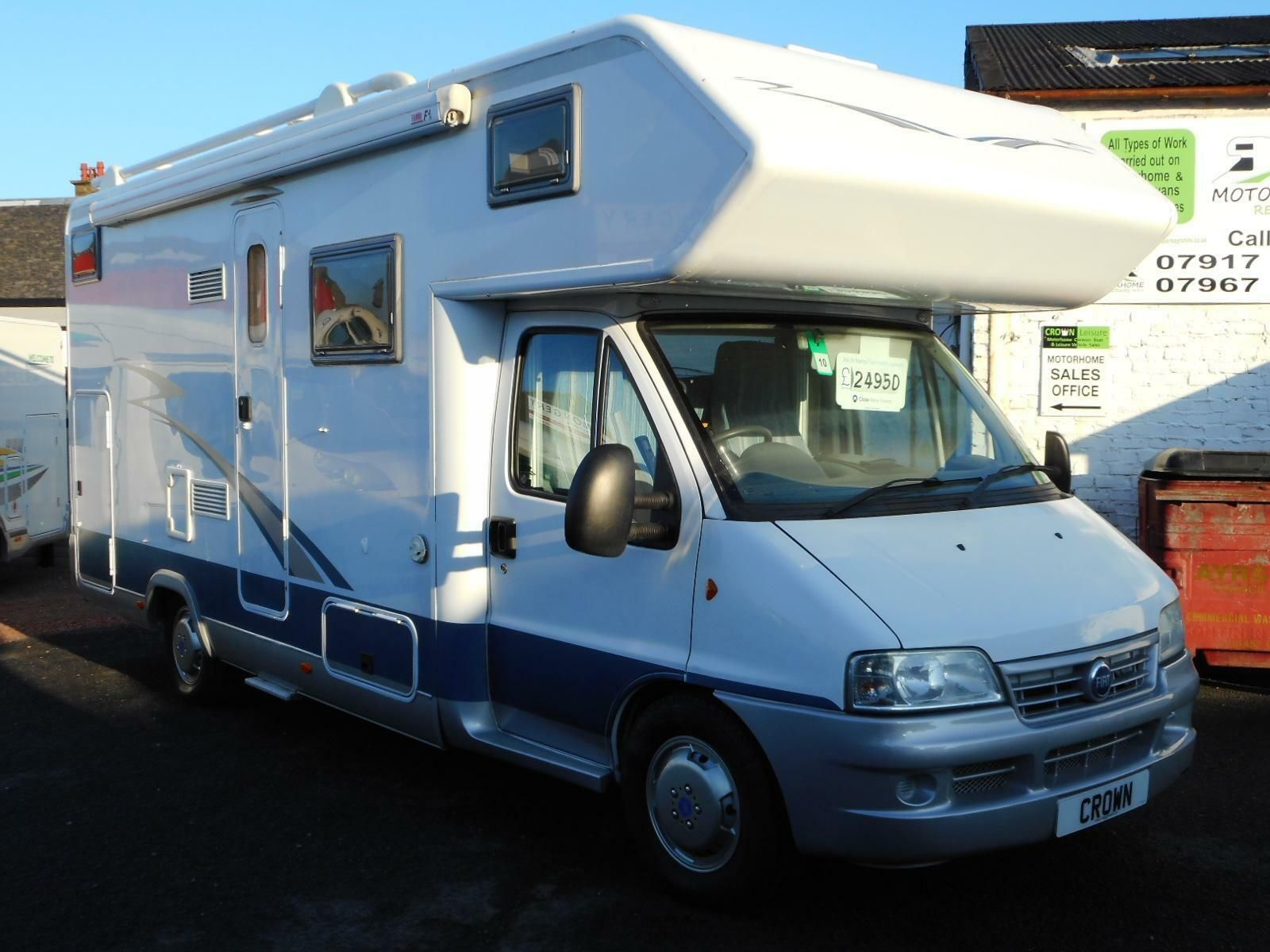 Details about 2005 FIAT DUCATO HOBBY 670 4 BERTH MOTORHOME