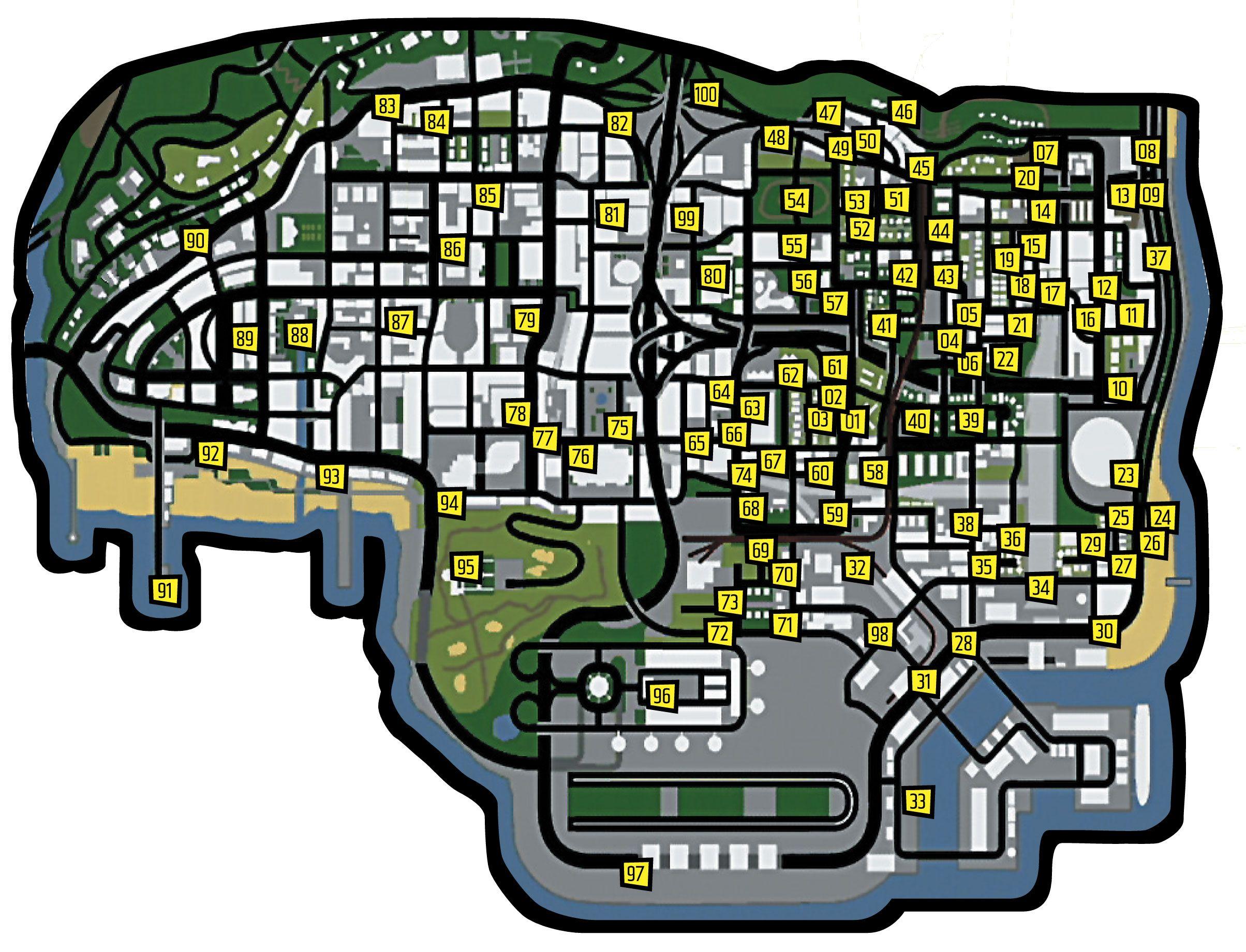 grand theft auto san andreas horseshoe map