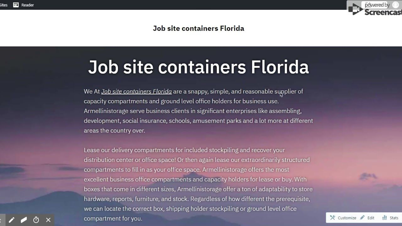 Job Site Containers Florida How To Level Ground Jobs In Florida