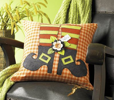 Witch Legs Pillow from Creative Home Arts Club | FaveCrafts.com