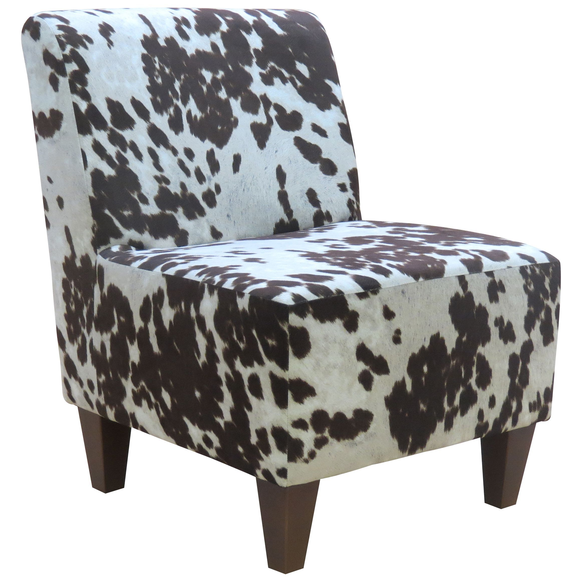 Miraculous Beumont Cowhide Armless Accent Chair Cowide Brown Multi Alphanode Cool Chair Designs And Ideas Alphanodeonline