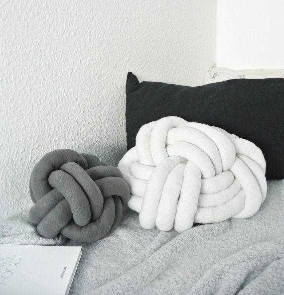 Bett Kissen dieses moderne knoten kissen kann auch als ein sitzkissen verwendet