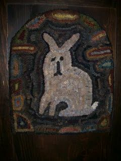 Prim Bunny, Tomb Shape.   Hooked on Primitives