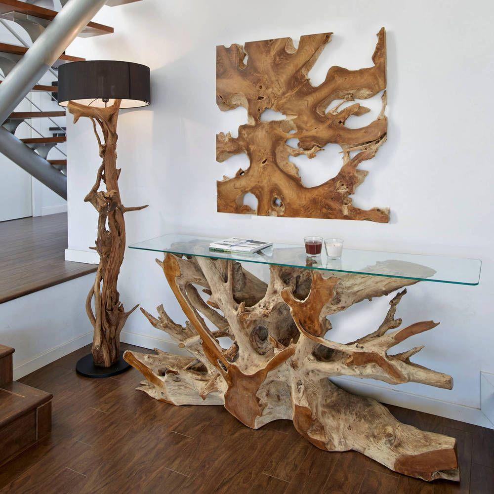 Teak Wurzelholz Konsole Naga Anrichte Sideboard Massiv Handarbeit Teakholz Ebay Diy Holz Treibholz Mobel Wurzelholz Tisch