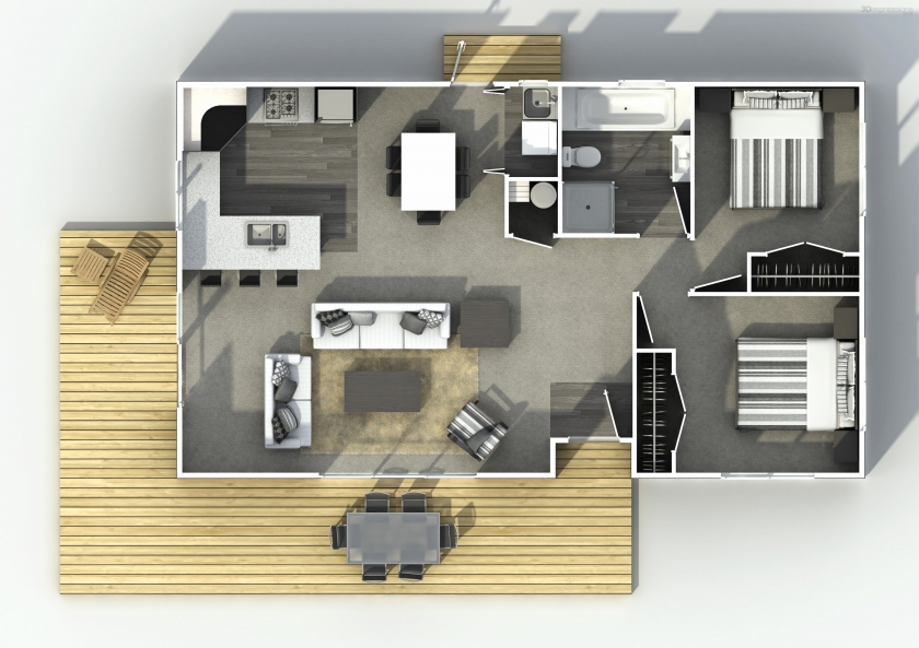NZ080 hunter two bedroom house plan Bedroom house plans