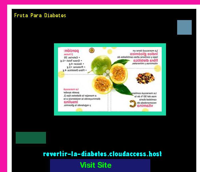 Fruta Para Diabetes 170324 - Aprenda como vencer la diabetes y recuperar su salud.