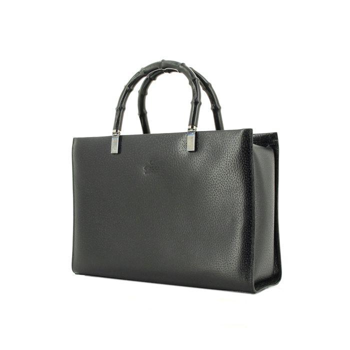 2ce325e45b Gucci Bamboo en cuir noir Jolis Sacs À Main, Cuir Noir, Bagage, Cuire