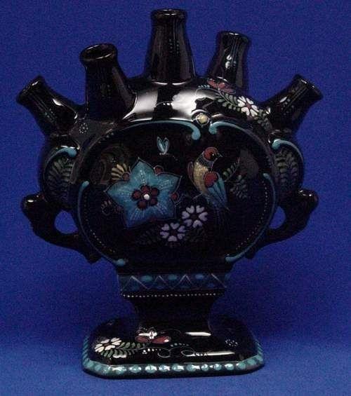 Vintage Tulip Vase Black Vintage Beauty Non Fashion Items
