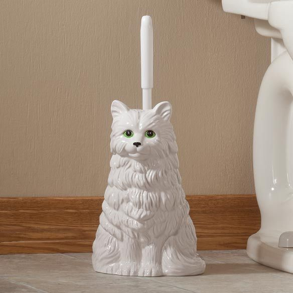 Lol Pretty Toilet Brush Cat Holder Miles Kimball