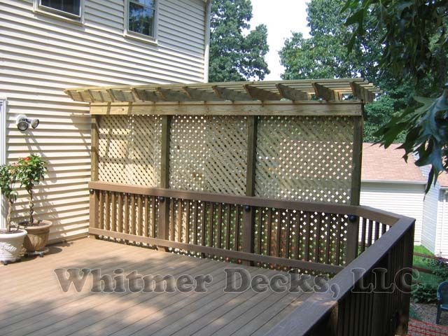 Good look for a small privacy fence at the end of our back for Small privacy fence