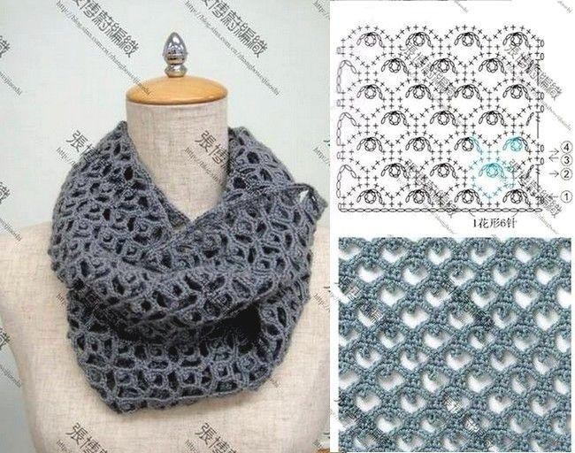 crochet bufandas-tour de cou (22) | patterns to try | Pinterest ...