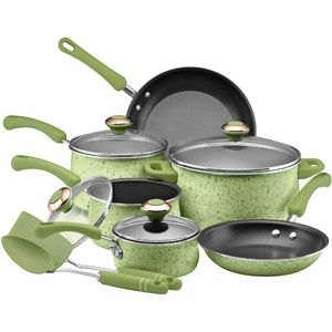 Paula Deen Porcelain Cookware Set In Green For The Home Kitchen