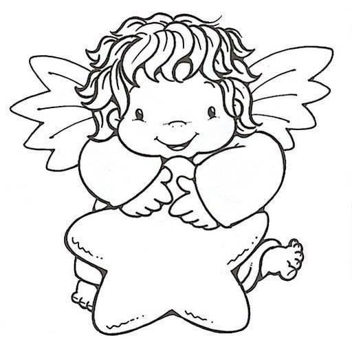 картинка ангелочка для вырезания шум ужасен